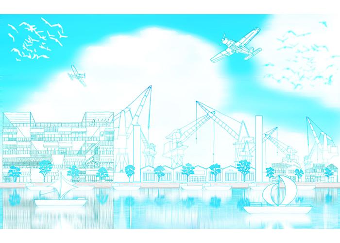 巴川への足がかり | Blue Rabbits Design