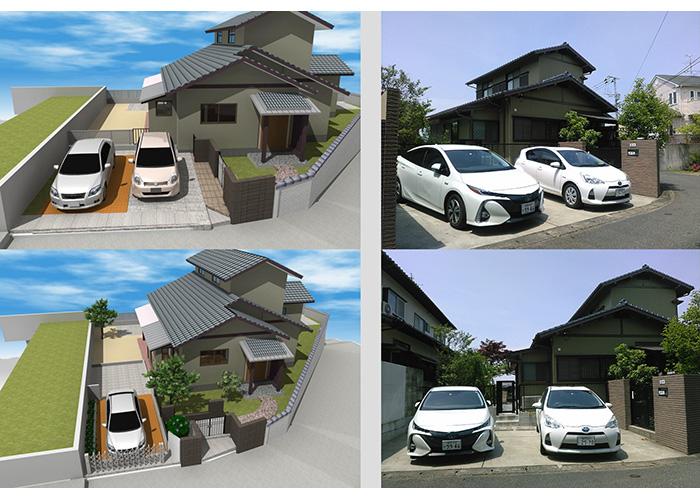 リフォーム提案パースとリフォーム完了写真   一級建築士事務所OZA5230 尾崎義博