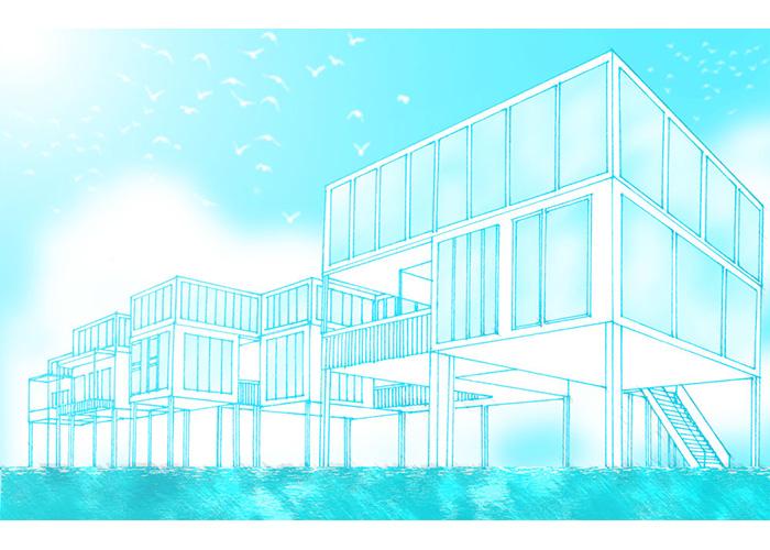巴川図書館   Blue Rabbits Design