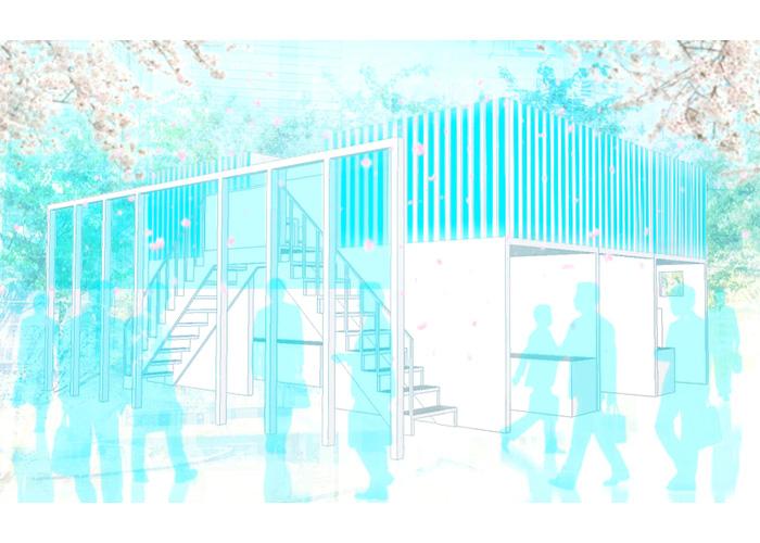 展示会ブースのレンダリング | Blue Rabbits Design