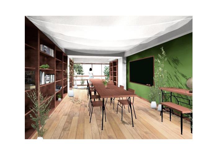 森の隠れ家 新橋のシェアオフィス | 香月真大建築設計事務所 香月真大