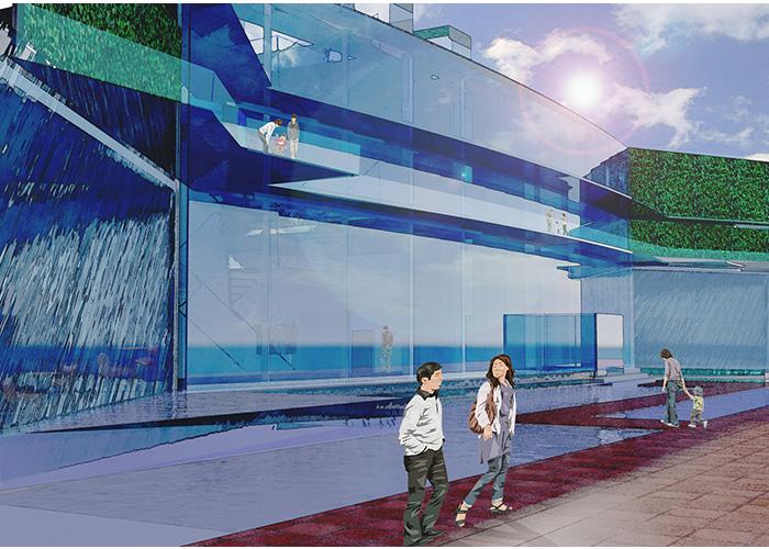 水と緑と青空の美術館 | フェリカ建築&デザイン専門学校 長谷川尚輝