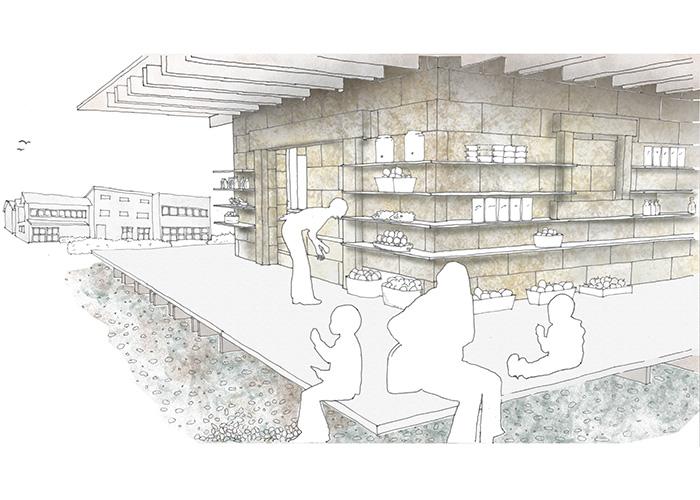 石蔵停留所~木骨石造の構法と部材に着目した転用~ | 新潟大学 小島厚樹