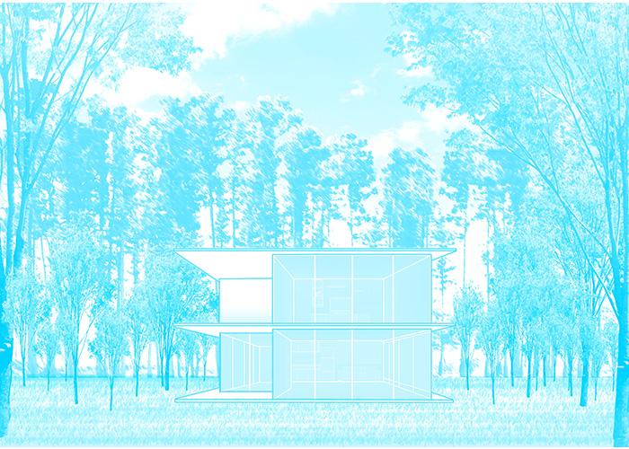 蒼い別荘 | Blue Rabbits Design