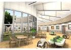 高齢者福祉施設の回廊型コミュニティスペースの習作   商図計画 杉本竹彦