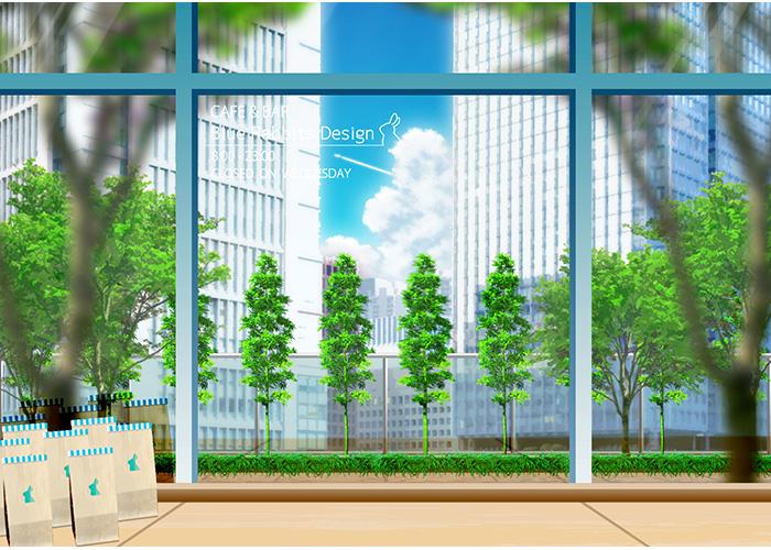 ビルの屋上喫茶店-2 | Blue Rabbits Design