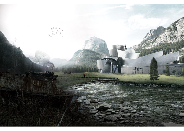 Photoshop render matte paint   株式会社高松伸建築設計事務所 溝手颯太